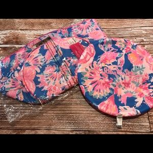 Lilly Pulitzer Cooler and Frisbee